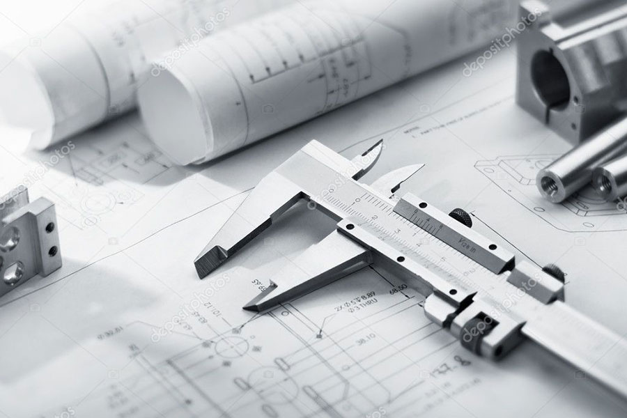 Caliper on blueprints